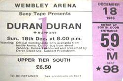 TICKET DURAN DURAN 1983-12-18 ticket