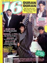 16 Magazine wikipedia January 1986 Ralph Macchio, Duran Duran, Michale J. Fox