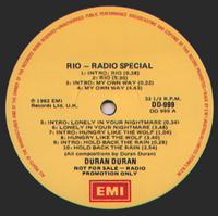 Duran duran rio radio special australia