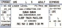 DURAN TICKET 2 MAY 2008