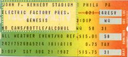 Philadelphia PA (USA), JFK Stadium genesis blondie duran duran ticket stub wikipedia