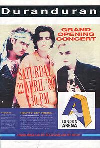 London Arena docklands wikipedia duran duran poster