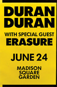 Madison square gardens new york ny usa duran duran gig show concerts dates discography discogs wikipedia