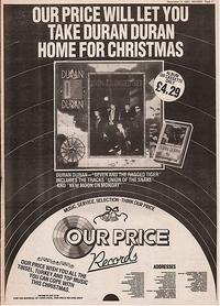 Duran duran advert 1983
