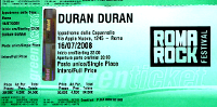 Ticket roma rock duran duran 200