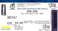 Ticket duran duran hamburg 13 june 2005 200
