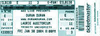 Laurie Auditorium, San Antonio TX, USA. duran duran ticket
