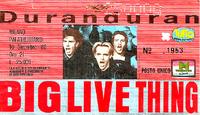 Ticket duran duran milano 10 december 1988