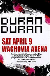 Duran duran wachovia arena