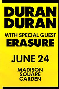 Poster duran duran madison square garden 1987