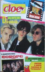 CIOE' 3 1989 Duran Duran Rick Astley Europe George Michael Bros Patsy Kensit magazine italy wikipedia