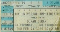 007 gibson Universal Amphitheatre, Los Angeles, CA, USA wikipedia duran duran ticket stub black sabbath