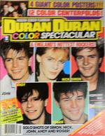 1 Duran Duran Color Spectacular Magazine 1985 rare