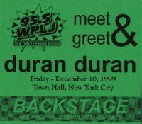 WPLJ Concert, Town Hall, New York wikipedia duran duran 1