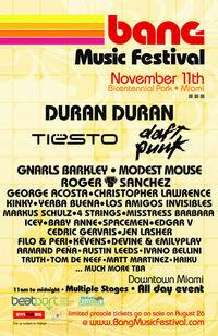 Bang Music Festival, Bicentennial Park, Miami FL (USA) duran duran discogs wiki
