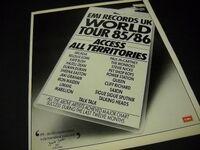 Promo 11 x 14, BILLBOARD magazine record industry original promotional trade advertisement from 1986 wikipedia duran duran