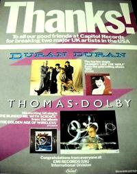 Poster duran billboard 1983 magazine advert thanks
