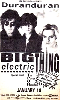 Duran duran Big Electric Thing 1989 advert