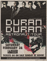 Staples Center, Los Angeles, CA (USA) wikipedia duran duran show