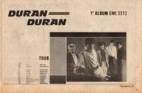 Duran duran wikipedia facebook com tour advert 1981 record mirror paper