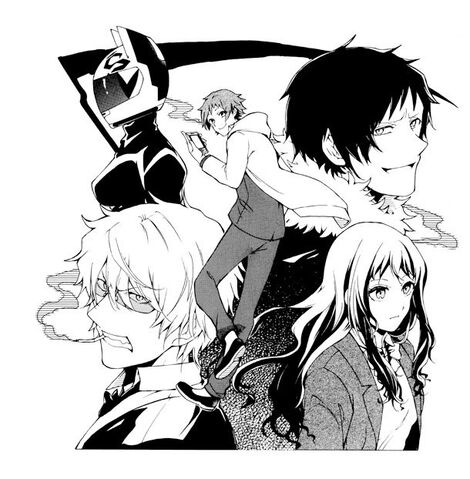 File:Durarara-3way standoff -alley- manga cast.jpg