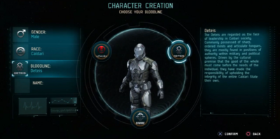 Character Creation Bloodline.