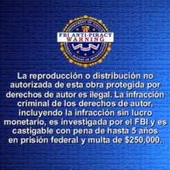 FBI Anti-piracy spanish warning