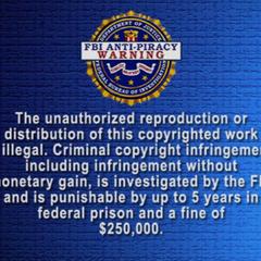 English FBI Warning