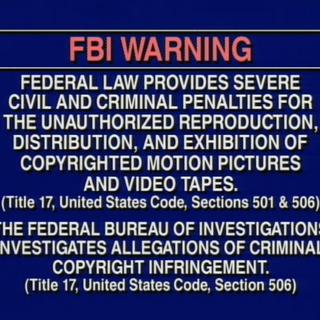 VHS FBI Warning