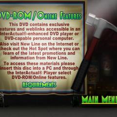 DVD ROM menu