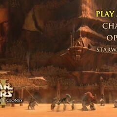 Star Wars: Attack of the Clones - Geonosis Main Menu Screenshot