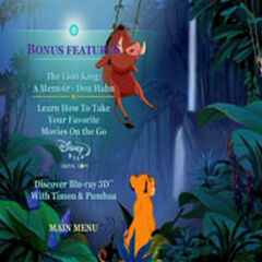 The Lion King - Bonus Features Screenshot