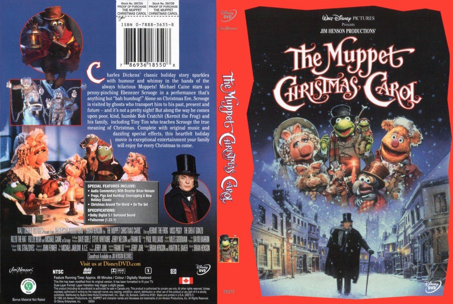 Image - The muppet christmas carol - dvd cover (uk).jpg | DVD ...