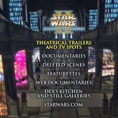 Star Wars: Attack of the Clones -Disc Two Menu Screenshot
