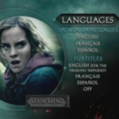 Harry Potter and the Deathly Hallows Part 2 - Languages