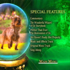 Wizard of Oz: 70th Anniversary Disc One Special Features Screen