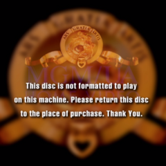 The screen pops up if the disc on a certain machine that is not designed for.