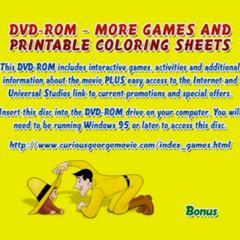 Curious George DVD Rom Menu