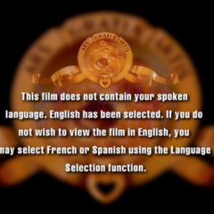 The language popup that appears if a language that doesn't exist on disc appears informing them that english is selected.