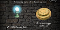 4-LEDCH LED Chromatic Orbs