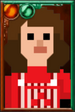 Trickster Sarah Jane Smith Pixelated Overalls Portrait