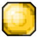 Yellow Pixelated Gem