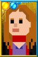 Amy Pond + Pixelated Scarf Portrait