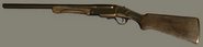 Golden Double-Barrel Shotgun