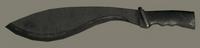 Black Khukuri Knife