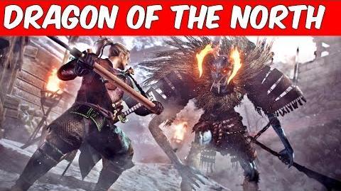 Nioh DLC 'Dragon of the North' 2017 Gameplay Trailer Porfirios guarding this channel