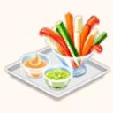 File:Veggie Sticks with 2 Dips (TMR).png