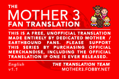 Mother 3 Fantran Disclaimer