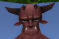 Normal male daemon face