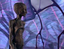 Scarecrow returns art museum